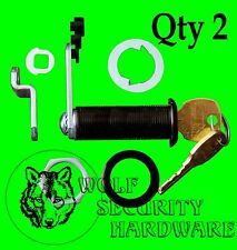 Qty 2 National CompX Key Cam Lock Cabinet 1 3/4 Length KEYED ALIKE Antique Brass