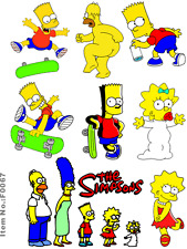Simpons Cartoon Snowboard Luggage Car Bike Fridge Guitar Vinyl Stickers F0067