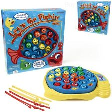 Toy Fishing Rods Fish Magnetic Game Board Spins Play Set Preschool Kid Children