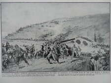 1916 SERBIAN HEAVY ARTILLERY BATTERY IN RETREAT WWI WW1
