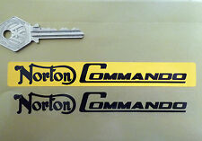 NORTON COMMANDO Number Plate Dealer Logo Cover STICKER Yellow Motorcycle Bike