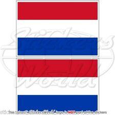 """OLANDA Bandiera Olandese Adesivi in Vinile per Auto 75mm (3"""") Stickers x2"""