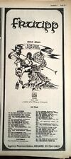 FRUUP Future Legends Tour 1973 UK Poster size Press ADVERT 16x16 inches