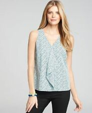NWT Ann Taylor Print Cascade Front Shell Size 0