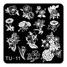 HOT Manicure TU Nail Stamping Plate Stainless Steel Nail Art Stamp Template T-11