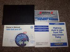 1999 Volkswagen VW Golf GTI Owner User Guide Manual GL GLS GLX TDI Wolfsburg VR6