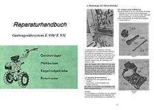 Reparaturhandbuch Anleitung Fortschritt E 930 E930 E931 E 931 DDR Einachser