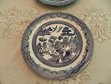 """Blue Willow Churchill China 12 1/2"""" Charger Round Serving Platter"""