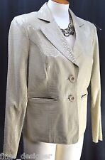 Bradley Bayou Coat patent Leather Jacket  reptile croc gator moto top button S