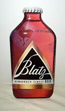 "Blatz Beer Cardboard Cutout of a Bottle of Beer Advertising Sign - 15"" x 7"""