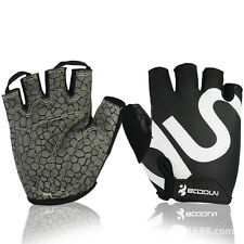 Boodun Half Finger Bicycle Cycling Gloves GEL Crack Sport Bike Glove S-2XL
