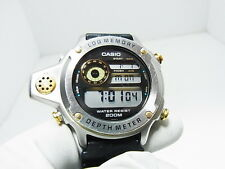 Casio DEP-500 1st Depth Meter Log Memory Diver's Gold Silver Watch New Battery