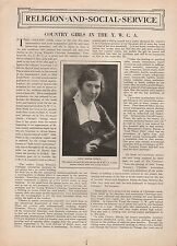 Y. W. C. A. Girl Leader, Miss Jessie Fields + History of Her Country Girl Group