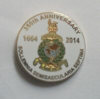 ROYAL MARINES 350TH ANNIVERSARY ROUND LAPEL PIN OR WALKING STICK MOUNT