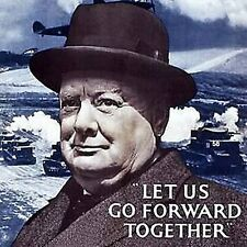 Churchill Let Us Go Forward drinks mat / coaster  (hb)