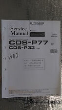 Pioneer cds-p77 p33 service manual original repair book stereo receiver cd radio