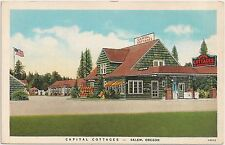 Capital Cottages in Salem OR Roadside Postcard Gas Pump