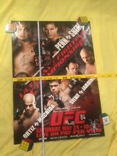 UFC 84 poster signed,Penn vs Sherk,COA, Silva,Pride program, Conor McGregor, SEG