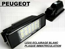 PEUGEOT 308 LEDS ECLAIRAGE BLANC PLAQUE IMMATRICULATION HDi GTi GT SE S THP VTi