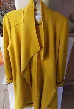ZARA Trafaluc Outerwear Yellow Long Wrap Coat Sz Small