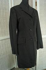 DRIES VAN NOTEN Grey Pinstripe Woolen Coat Dress Fully Lined Size EU 38 Medium M