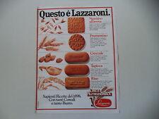advertising Pubblicità 1980 BISCOTTI LAZZARONI