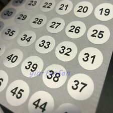 """800pcs Number Label Stickers Silver Round Waterpproof from 1 to 200 0.39"""" 10mm"""