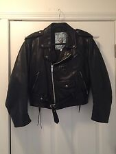 "Version Francaise Thick Leather ""Brando Style"" Motorcycle Jacket  France Med/L"