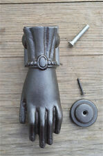 Elegant antique style ladies hand doorknocker cast iron door knocker complete Z5