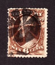 US O110 6c Treasury Department Used w/ Circle of V's Fancy Cancel