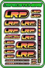 LRP ESC MOTOR BRUSHLESS RC 1/10 1/8 STICKERS LIPO BUGGY CAR DECAL YELLOW PINK RC