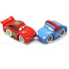 2 DISNEY PIXAR CARS WOOD COLLECTION Lightning McQueen Sally Toys Loose