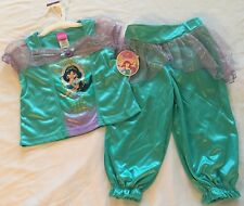 Disney Princess Jasmine Costume 2 Piece Set Pajamas 2T Girls Toddler Childs