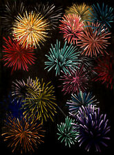 Scenic 10'x20' Muslin Firework Hand-Painted Photo Backdrop Background 79-006