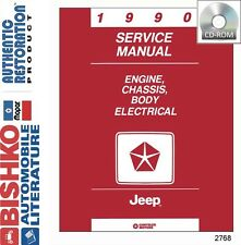 1990 Jeep Cherokee Comanche Wrangler Shop Service Repair Manual CD