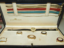 Vintage Bucherer Swiss Ladies Watch w/Original Box Interchangeable Bands & Face