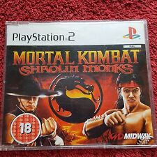 MORTAL KOMBAT SHAOLIN MONKS PROMO SONY PLAYSTATION 2 PS2 COMPLETE GAME