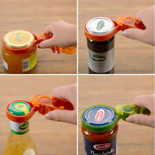 Plastic Multi Jar Bottle Opener Fits any Can Easy to Use Lid Remover Grip Turn
