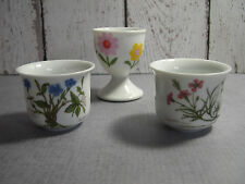 Desiree Denmark 2 floral porcelain egg cups  1 no name with daisies vintage