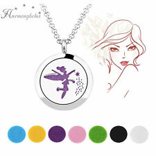 Magic Fairy Aromatherapy Pendant Locket 316L stainless steel Chain Necklace 20""