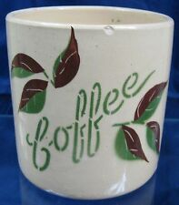 Vintage Yellow Ware Pottery Canister Coffee