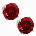 @@ Wholesale natural Genuine Round Ruby Red Stud Earrings with certificate