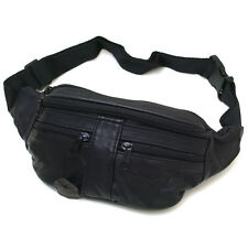New Black Leather Mens Travel Fanny Waist Packs Bag Wallet Purse#2095