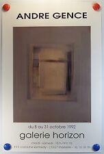 André GENCE expose Galerie Horizon à Marseille AFFICHE ORIGINALE/12PB