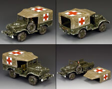 KING & COUNTRY BATTLE OF THE BULGE BBA080 DODGE WC51 WINTER AMBULANCE MIB