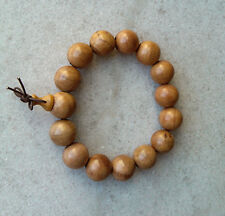 Nice 15mm Natural HuaLi Wood Beads Bracelet for Fashion Cool Man Free Delivery