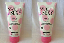 Lot of 2 Supre Sweet & and Sexy For Face Facial Bronzer Dark Tanning Bed Lotion