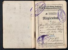 GERMANY 1914 23 BICK BACKERS UNION MEMBERSHIP BOOKLET 311 STAMPS SHOWING POST