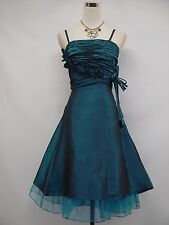 Cherlone Blue Short Prom Ball Wedding Evening Bridesmaid Party Dress Size 16-18
