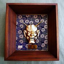 F/S Vintage Japanese HANNYA MASK Wall Hanging Decoration / Noh Kabuki Demon